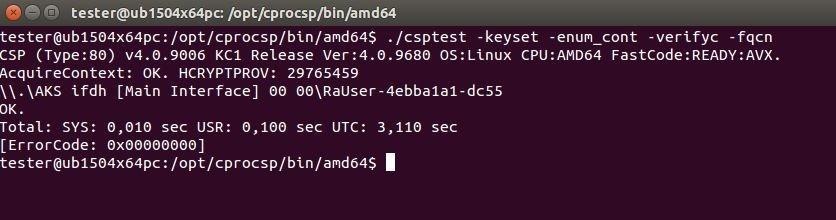 eToken Pro 72k в среде Ubuntu 15 04x64 с использованием