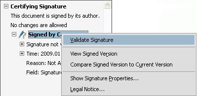 Проверка подписи